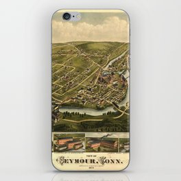 Aerial View of Seymour, Connecticut (1879) iPhone Skin
