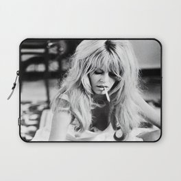 Brigitte Bardot Playing Cards, Black and White Photograph Laptop Sleeve