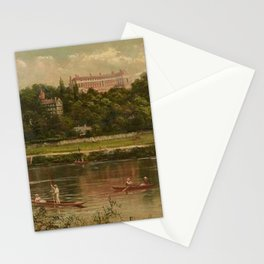 The Royal Star and Garter Home - Richmond on the Thames River landscape by James Isaiah Lewis Stationery Cards