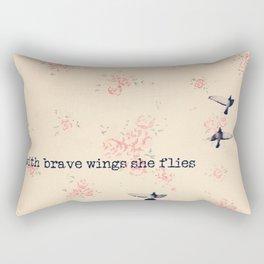 She Flies Rectangular Pillow