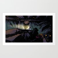 The Monster Under the Bed Art Print