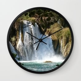 Waterfalls KRK, Croatia 2 Wall Clock