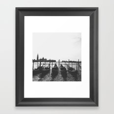 Venetian Gondolas Framed Art Print