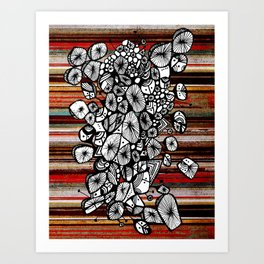 Bouquet of Rocks Art Print