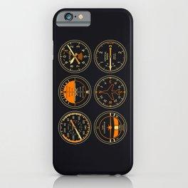 Aircraft Flight Instruments - Vintage iPhone Case