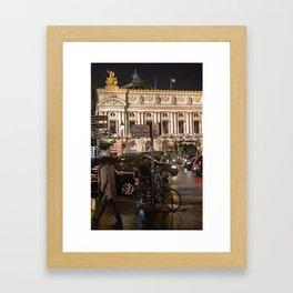 Opera Garnier night Framed Art Print