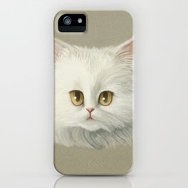 My White Cat's Face iPhone Case