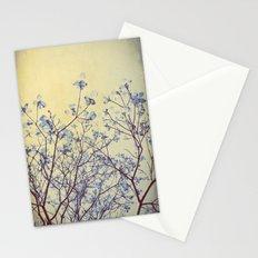 Dogwood Tree in Flower -- Duotone Indigo and Burnished Bronze with Antique Edges Stationery Cards