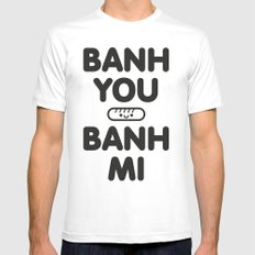 Banh You Banh Mi Mens Fitted Tee White MEDIUM