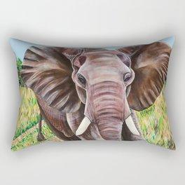 Elephant in the Grass Rectangular Pillow