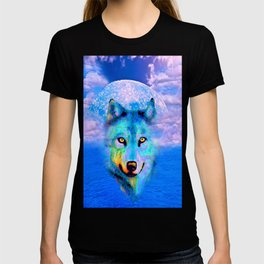 Wolf Moon and the Deep Blue Sea T-shirt