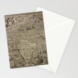 The americas by Diego Gutierrez, 1562 Stationery Cards