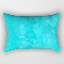aqua blue polygon Rectangular Pillow