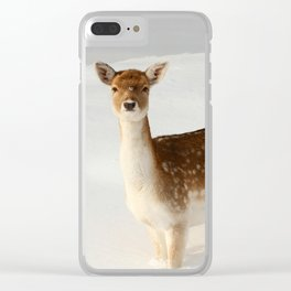 Winter's Beauty Clear iPhone Case
