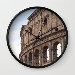 Rome's Colosseum After Sunrise Wall Clock
