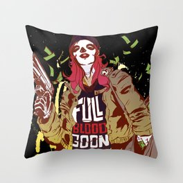 Full Blood Goon (hot colorway) Throw Pillow