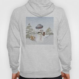 Winter Wonderland - Funny Snowman and friends - Watercolor illustration III Hoody