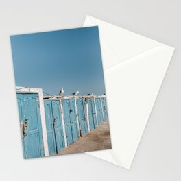 Wandering seagulls in coastal village Essaouira, Morocco travel photography Stationery Cards