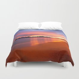 Sunset Beach In Cannes Duvet Cover