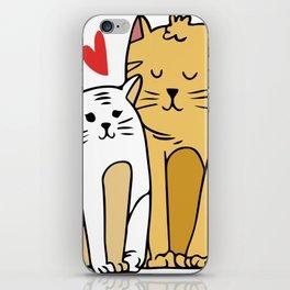 Cartoon Cat Family iPhone Skin