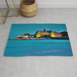 Narragansett Towers & Coastguard House Landscape Rug