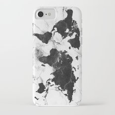 world map marble 3 iPhone 7 Slim Case