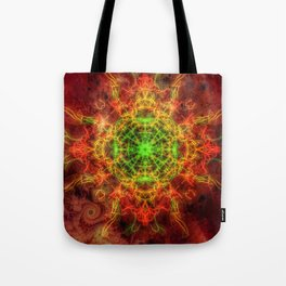 Heart on Fire Tote Bag