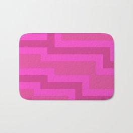 Think Pink Abstract Bath Mat