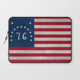 1776 Bennington flag - grungy Vintage Laptop Sleeve