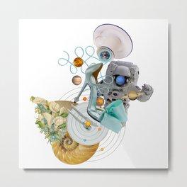 Space Fashion Trip by Lenka Laskoradova Metal Print