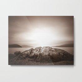 Sepia Straits Metal Print