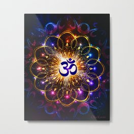 """The higher power of Om"" - sacred geometry Metal Print"