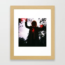Zombie Tiger Killer Framed Art Print