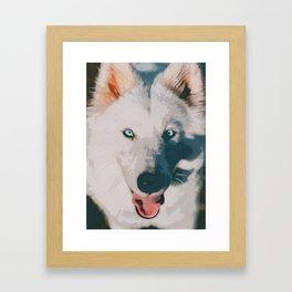 wolf poster Framed Art Print
