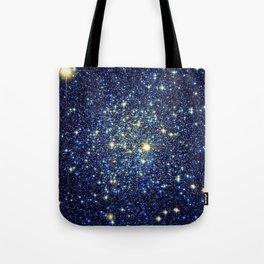 galaxY Stars : Midnight Blue & Gold Tote Bag