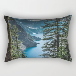 Blue Crater Lake Oregon in Summer Rectangular Pillow