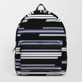 Skewed Stripes Pattern Design Backpack