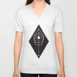 Rhombus texture geometry Unisex V-Neck