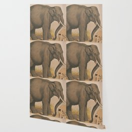 Vintage Elephant Illustration (1874) Wallpaper