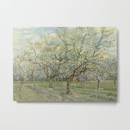 The White Orchard Metal Print
