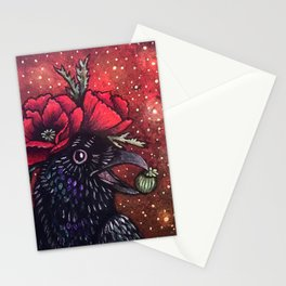 Poppy Crow Stationery Cards