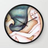siren Wall Clocks featuring Siren by Silviacat