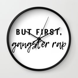 Gangster Rap Wall Clock