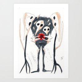 Evangelion Inksplatter Sachiel Art Print