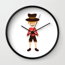 A Perfect Gift For Your Sibling Or Friend An Illustration Of  A Boy With A Hat T-shirt Design Bro Wall Clock