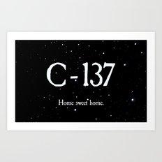 C-137 Art Print