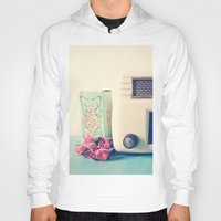 radio Hoodies featuring Retro Radio by Olivia Joy StClaire