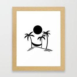 Hammock Hangout Framed Art Print