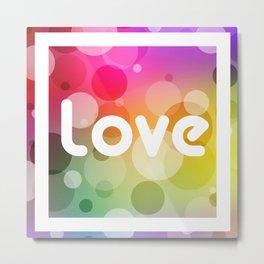 Love Bubbles Letters III Metal Print
