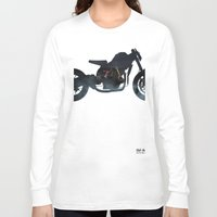 cafe racer Long Sleeve T-shirts featuring cafe racer fighter bike by Daniele Faro